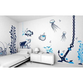 vinilos decorativos pared infantiles kit completo cortes