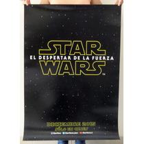 Afiche De Cine - Starwars El Despertar De La Fuerza 50x70