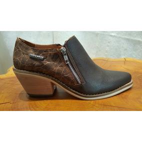 Zapatos Texanos De Cuero. Nuevos
