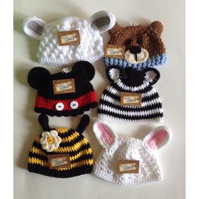 Gorro Bebe Tejido A Mano Crochet Animalitos Niño Niña Fotos