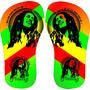 10 Chinelo Personalizado Tema Jamaica Reagge Bob Marley