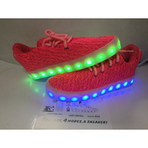 Tenis Rosa Yzy Los Originales De Led Recargables Luminosos