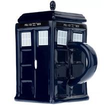 Taza De Ceramica Forma De Police Tardis Del Doctor Who H1054