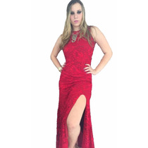 Vestido Feminino Renda Longo Festa Fica #vl2 Maravilhoso
