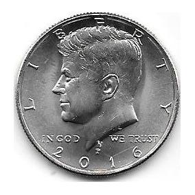 Moneda Medio Dolar Estados Unidos Año 2016 Sin Circular