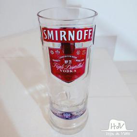 Vaso Artesanal Hecho Con Botella De Vodka Smirnoff