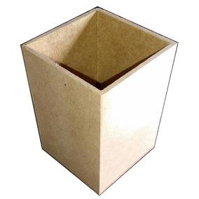 Porta Lápis E Caneta Mdf - Cru (6x6x9) Barato