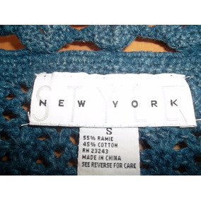Sweater Pullover Tejido Al Crochet Made In New York