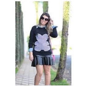 Blusa Roupas Femininas De Tricô Tricot Crochet Moda Inverno