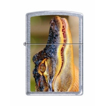Zippo Alligator Chrome Animal Cocodrilo + Mecha Gratis