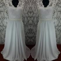 Lindo Vestido De Noiva Simples , Aproveitem !!!