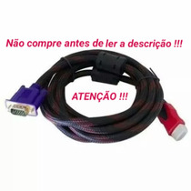 Cabo Adaptador Hdmi P/ Vga Tv Notebook Ps3 Xbox360 Tablet