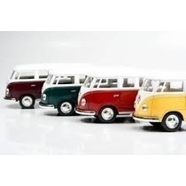 Kit 6 Miniaturas Volkwagen Kombi 1962 Escala 1:32 Coleç Ki07