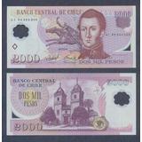 Chile 2000 Pesos 2004 P. 160 Polimero Sin Circular