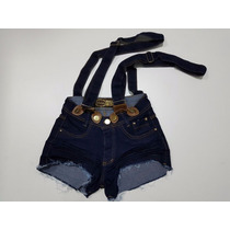 Short Jeans Feminino Com Suspensorio Panicat