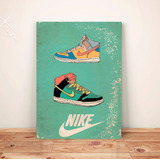Pôster Retrô Tênis Nike - Placa Rígida A3 #pvt007a0
