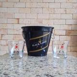 Kit Balde Whisky Black Label 2l + 2 Copos Johnnie Walker