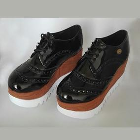 Zapatos Con Plataforma Negros De Moda