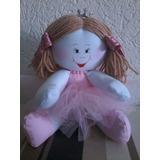 Boneca De Pano Bailarina Rosa Decoração Quarto De Bebe