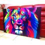 Cuadros Trípticos / 60x90 Cm (leones)