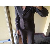 Remato Conjunto De Vestir Saco Y Pantalón Para Dama Small