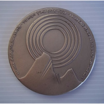 Israel Egypt Peace Treaty 1979 Medalla 59mm Plata 935 Nº3468