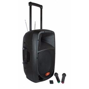 Donner Caixa De Som Ativa C/ Bateria Interna E 2 Microfone