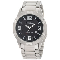 Armitron Hombre 204692bksv Stainless-steel And Negro Dial Dr