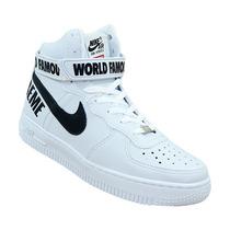Tênis Nike - Bota Nike Air Force Branco E Preto