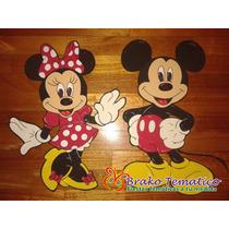 Mickey Y Minnie Figuras Goma Eva Cumpleaños Temáticos