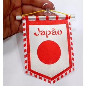 Flâmula Bandeira Do Japão 13x10cm C/ Ventosa Lindo Souvenir