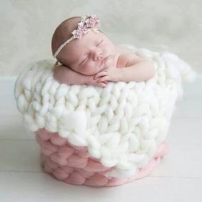 2 Unidades Manta Lã Newborn Props Layer Cobertor