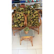Cadeira Joinville Com Almofada Vime Natural