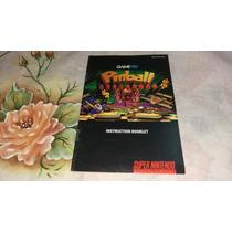 Pinball Fantasies Original P/ Super Nintendo Só Manual