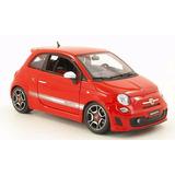 Bburago Fiat 500 Abarth, Escala 1:18, Rojo