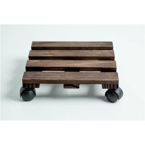 Suporte Para Vasos Com Rodízios 45x40 Madeira Pinus