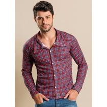 Camisa Masculina Xadrez - Roupa P M G Gg