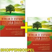 Kit 02 Bíblia De Estudo Leitura Diária