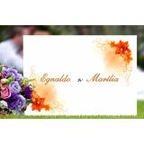 Convite De Casamento 200 Unids Papel Vergê 120 G R$98,80