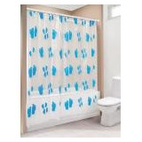 Cortinas De Baño Simple Plástica Estampada. Cod 207