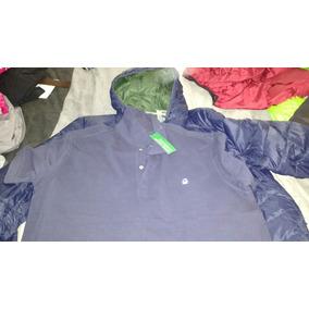 Chamarra L Y Camisa Polo Benetton Xxl Azul Nueva Envio Gra