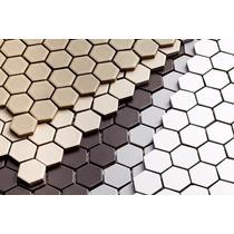 Pastilha De Porcelana Atlas Hexagonal/ Jatobá / Ngk