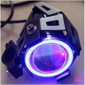 Neblinero Foco Led Moto 10w 3 Modos + Angel Eyes 5w
