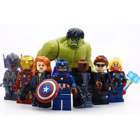 Kit 8 Vingadores Marvel Avengers Big Hulk Lego Guerra Civil