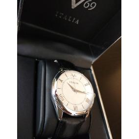 Reloj Versace V19.69 Italia Mujer, Piel Y Acero Inox. Regalo