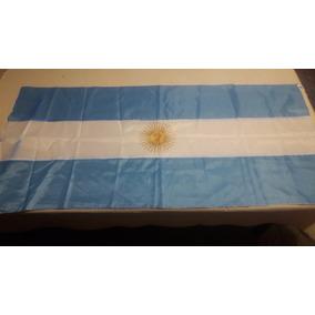 Bandera Argentina 1,50 Mts X 0,75 Mts En Tela 100% Polyester