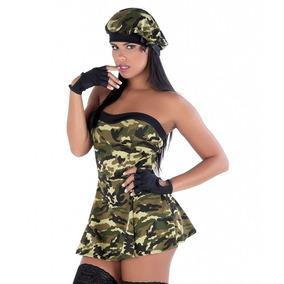 Fantasia Militar Erotica Feminina Policial Sexy Sensual