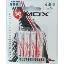 Pilha Recarregavel Aaa C/4 - Mox 4300mah Original Lacrado
