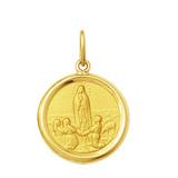 Leão Jóias Medalha Nossa Senhora De Fátima 2gr Ouro 18k
