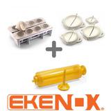 Kit Fábrica Coxinhas+4 Formas Pastel+máquina De Churros